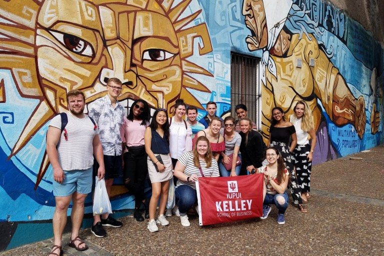 Kelley School of Business students in Argentina
