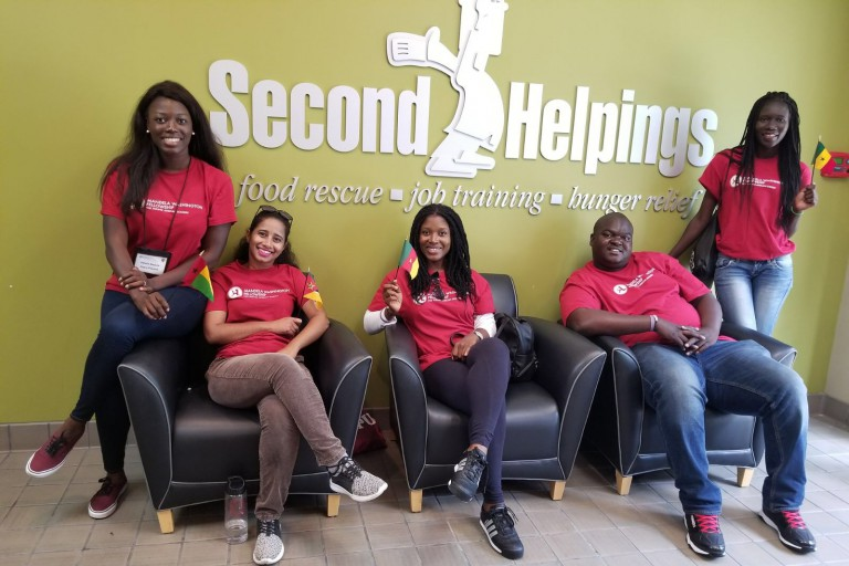 Mandela fellows visit Second Helpings.