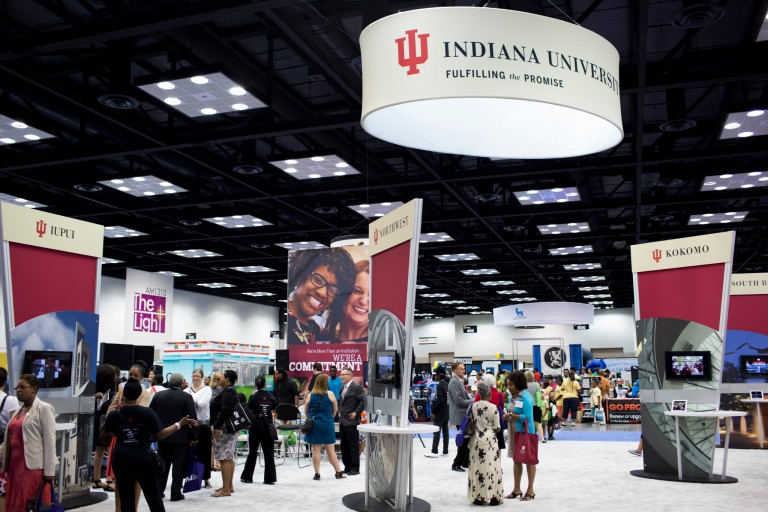 The IU section at the 2015 Black Expo Summer Celebration