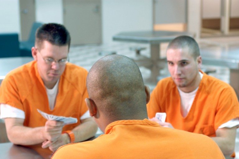 Prisoners talking to each other