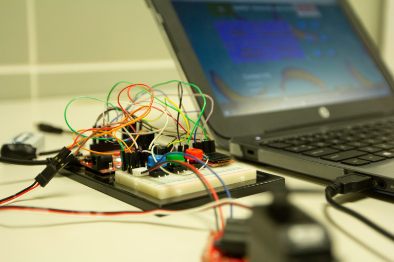 Electronic equipment attached to a laptop