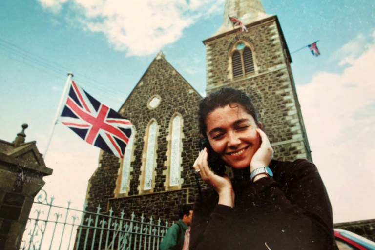 Elaine Monaghan in Northern Ireland in the 1990s