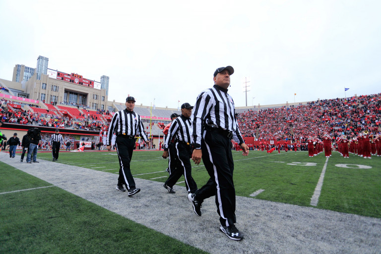 Referee at IU football game