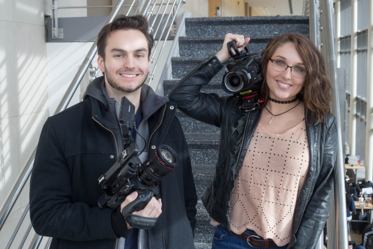 Sam Mirpoorian and Hannah West.