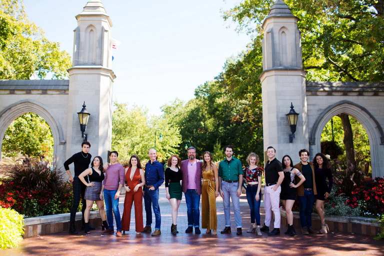 Richard Roland and 2020 BFA graduates of the IU Department of Theatre