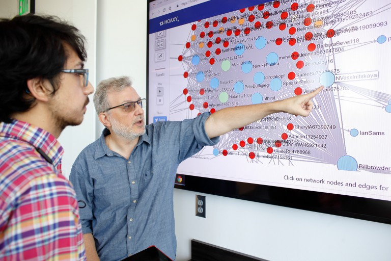 Filippo Menczer discusses one of the Observatory on Social Media's online analysis tools