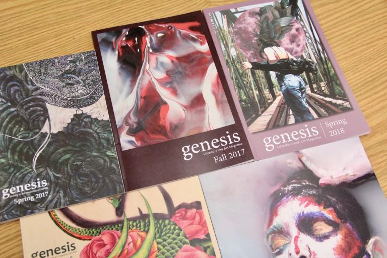 Copies of Genesis, IUPUI's literary magazine