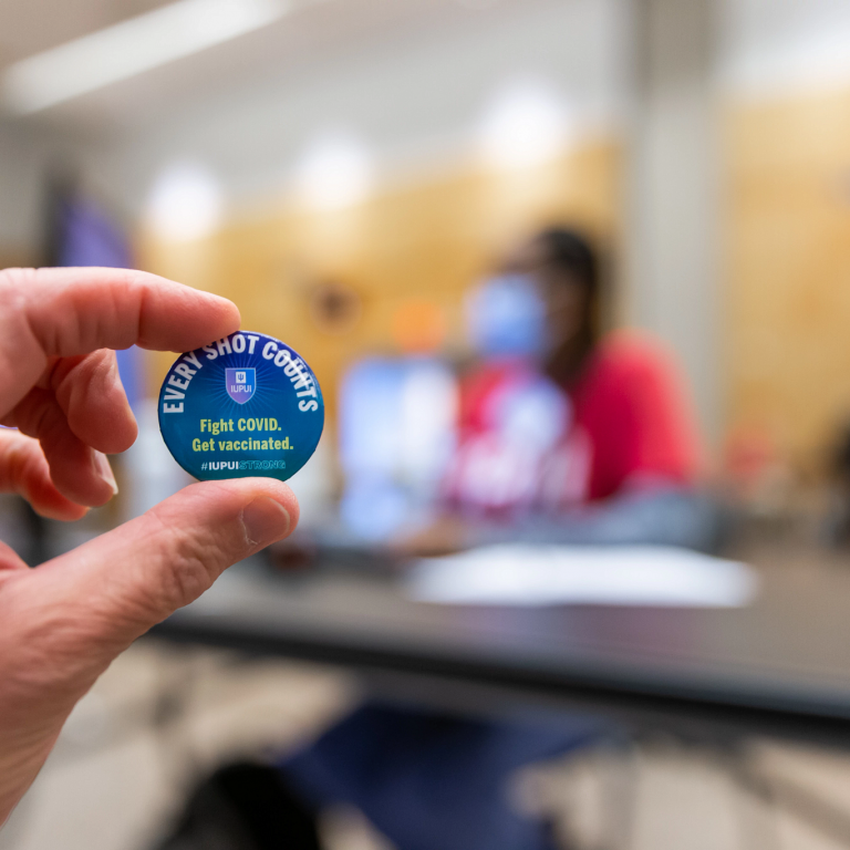 A button reading 'Every Shot Counts: Fight COVID, get vaccinated'