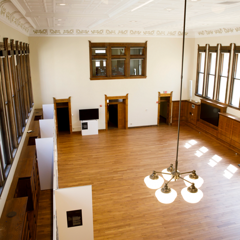 Reading room seen from above