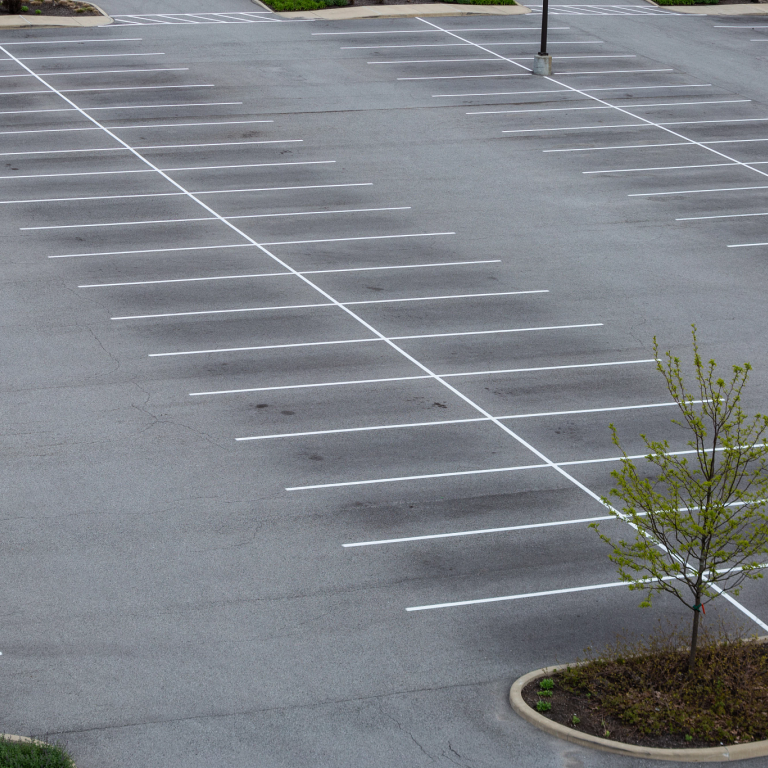 empty parking spaces on iupui's campus