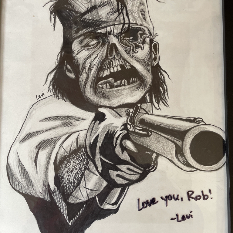 A zombie drawing