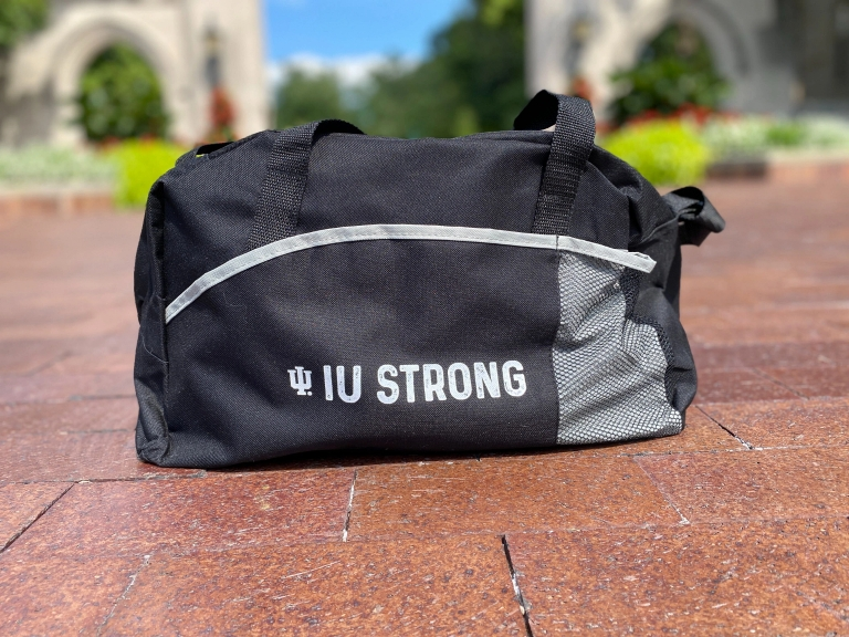 IU duffel bag
