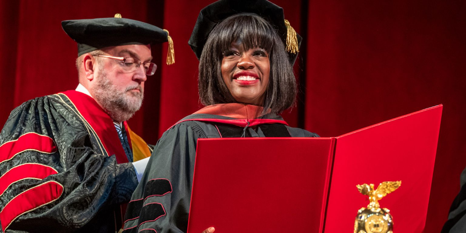 Actor Viola Davis receives an honorary degree at IU Bloomington