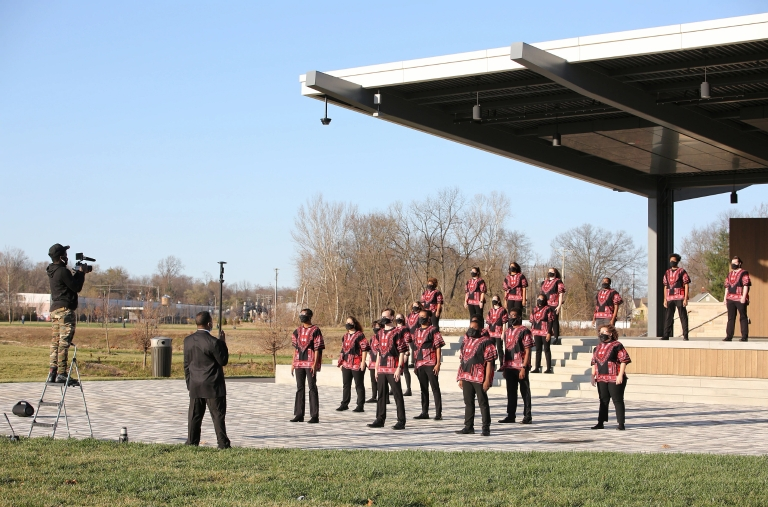 Dr. Raymond Wise directs the African American Choral Ensemble