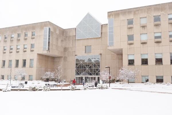 University Library in the snow