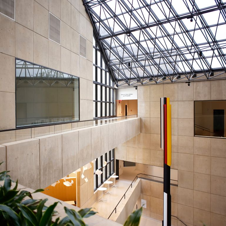 Interior of the Eskenazi Museum of Art atrium