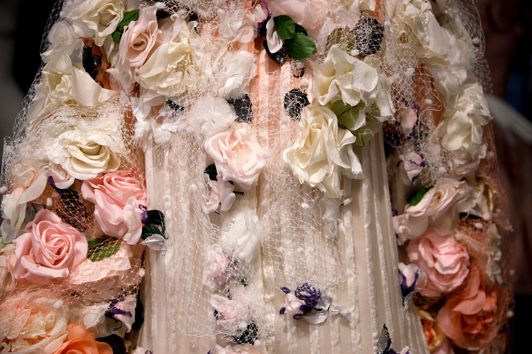 Detail of a flowered costume from '101 Dalmatians'