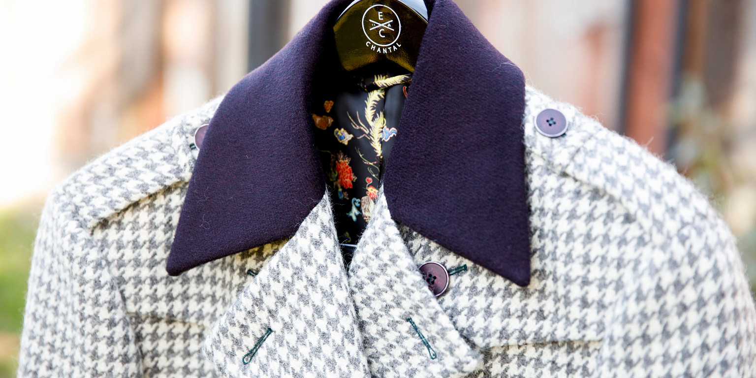 A collar detail on a jacket by Elevated Citizen