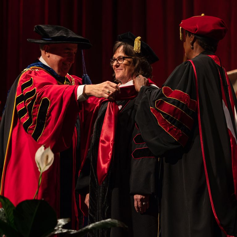 Susan Elrod officially being installed as chancellor
