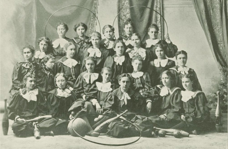Female athletes in 1896