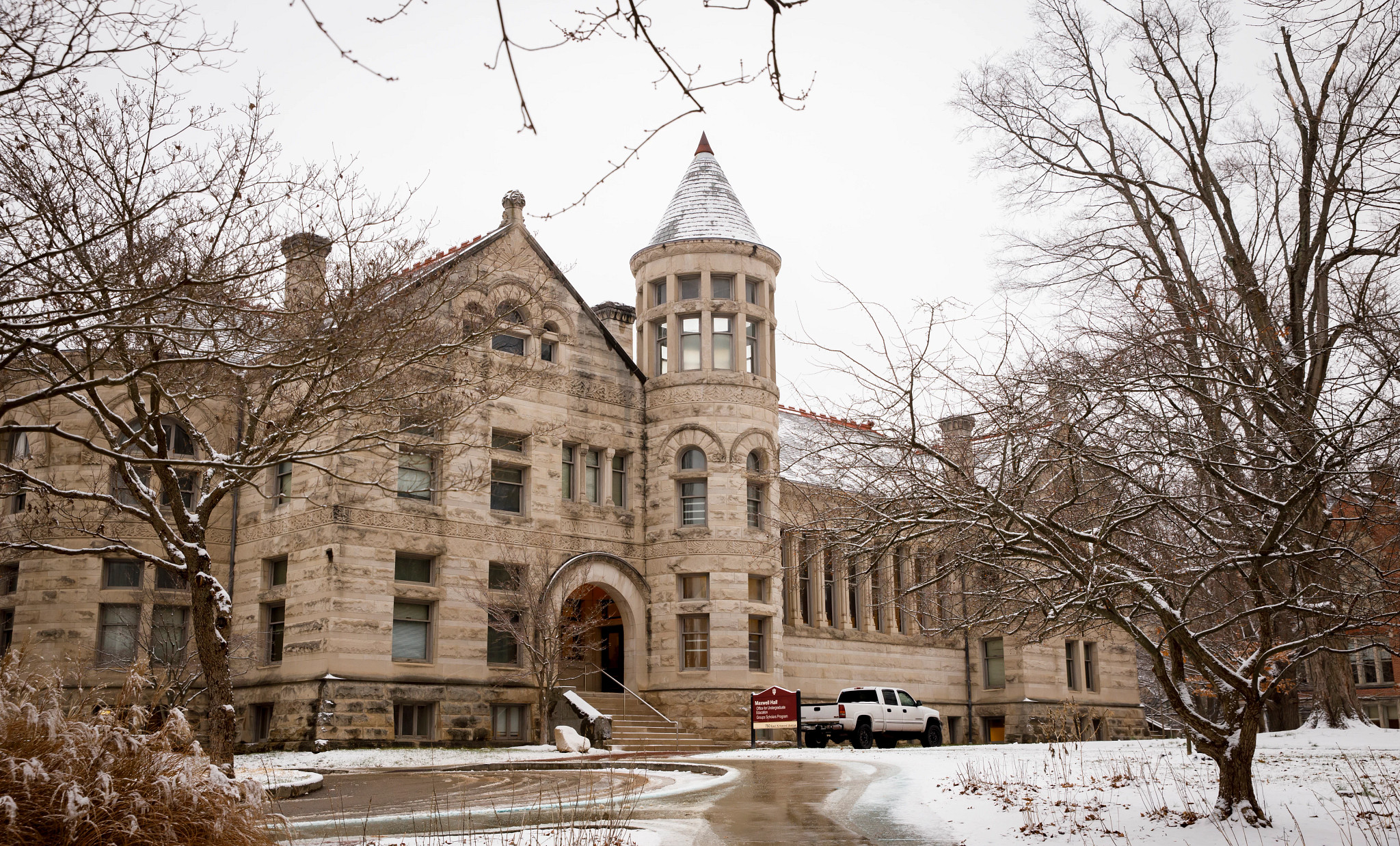 Maxwell Hall in snow