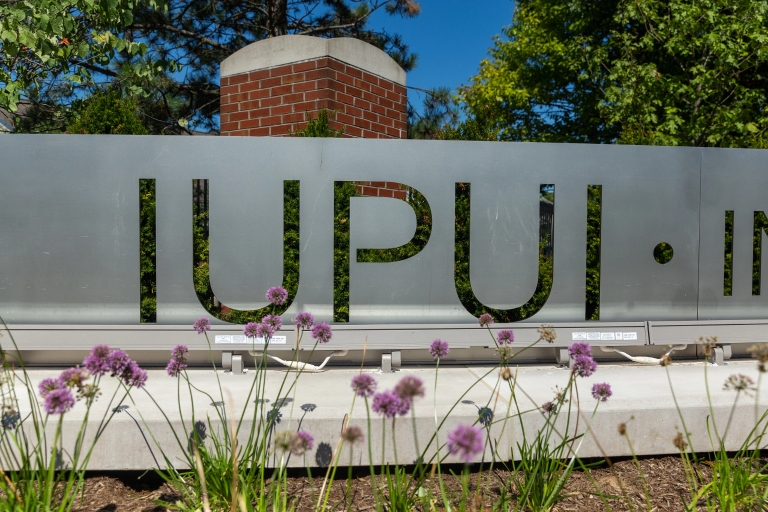 IUPUI gateway on campus