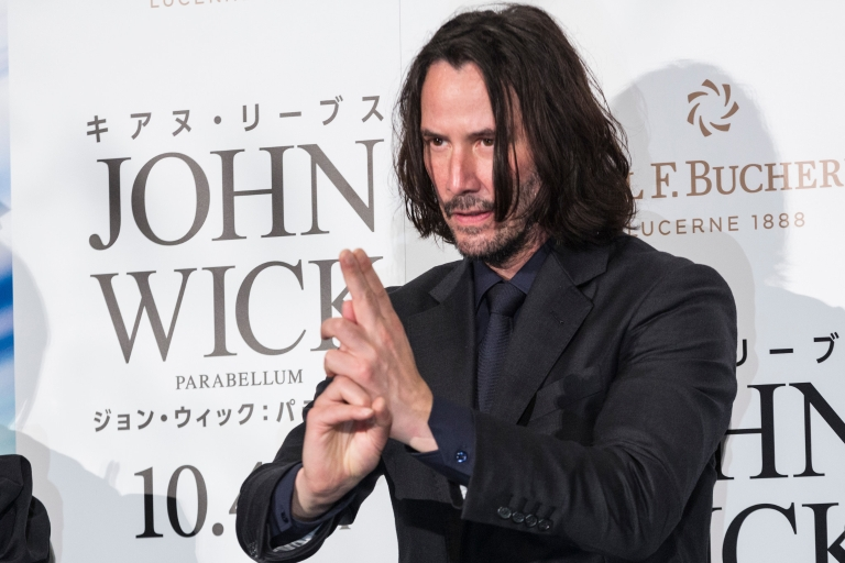 Keanu Reeves at a premiere for 'John Wick 3'