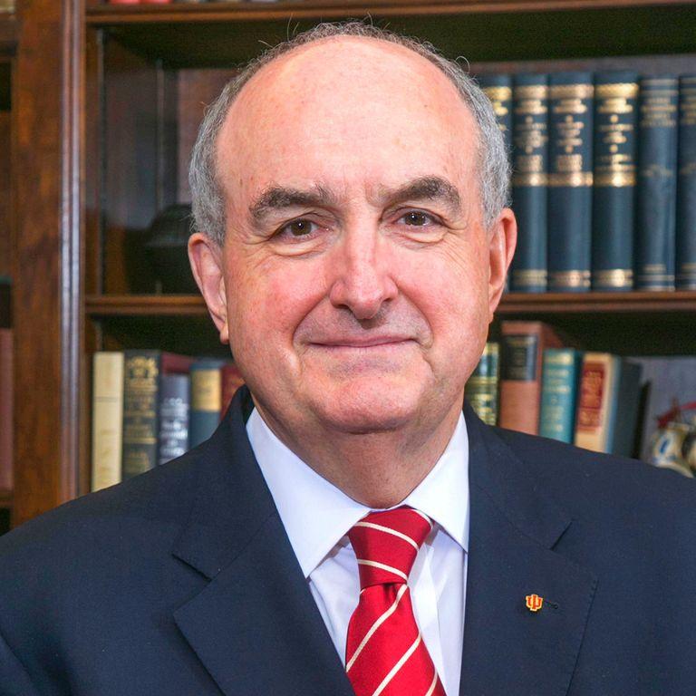 Indiana University President Michael A. McRobbie