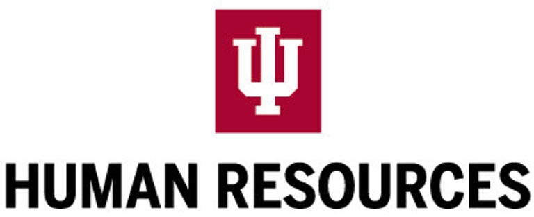 IU Human Resources logo lockup