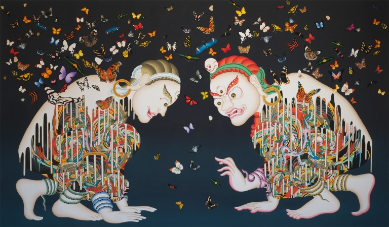 "Tsherin Sherpa ""Spirits (Metamorphosis)"" painting"