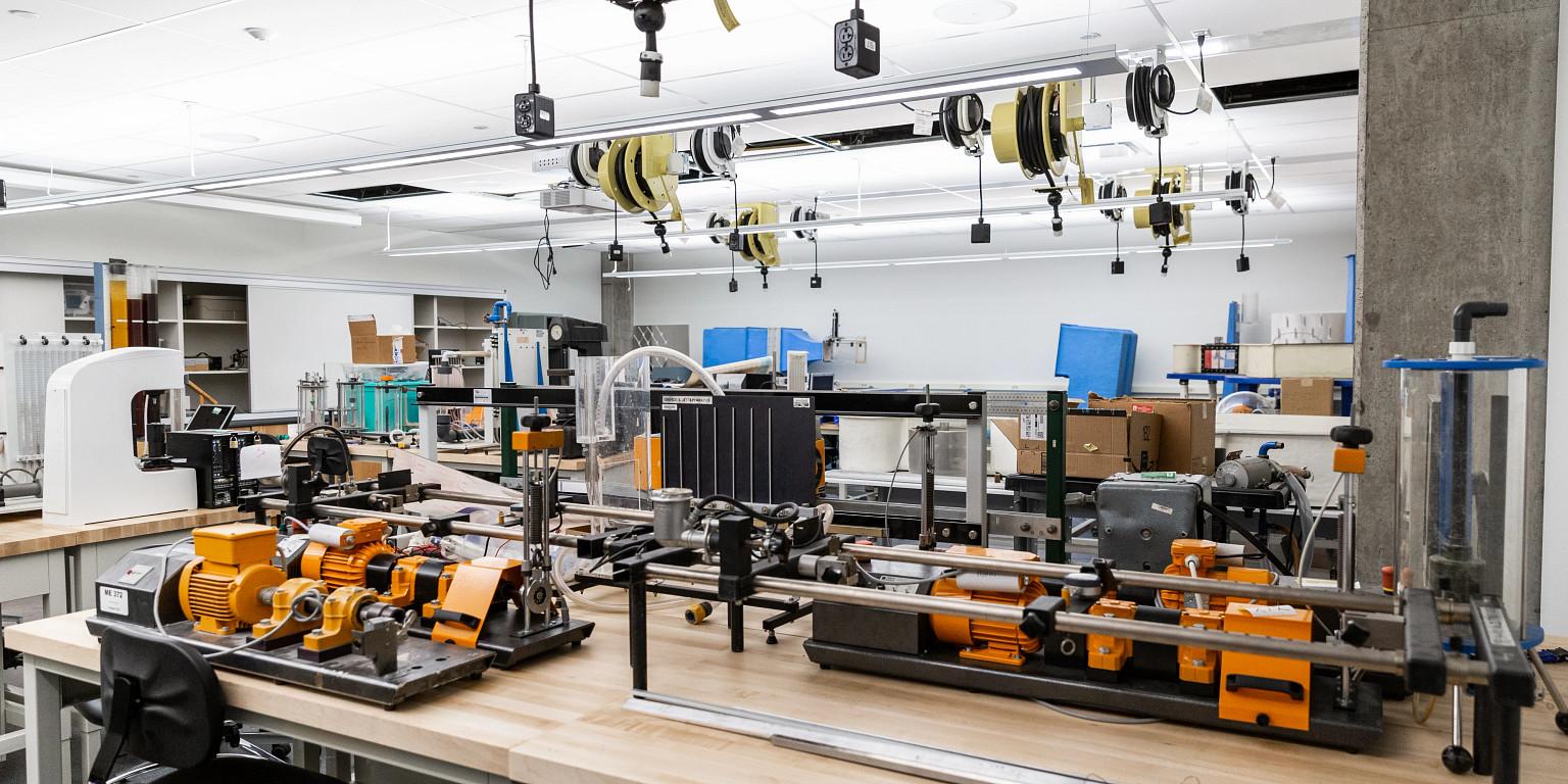 laboratory space inside innovation hall