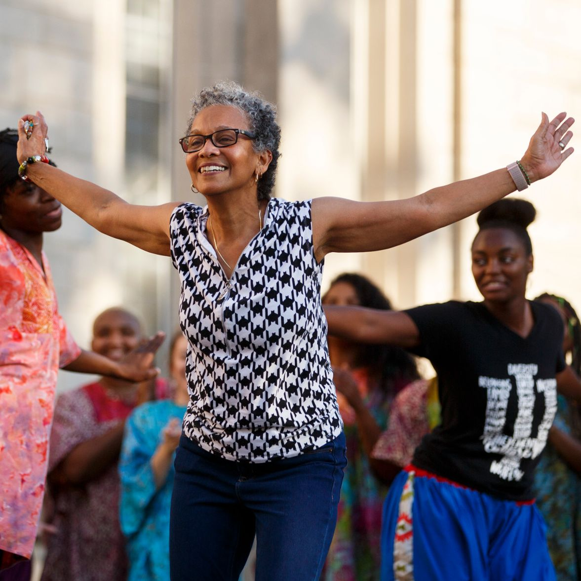 Iris Rosa dances with the African American Dance Company