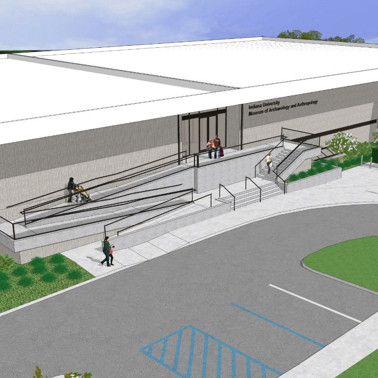 Rendering of the IU Museum of archaeology and anthropology