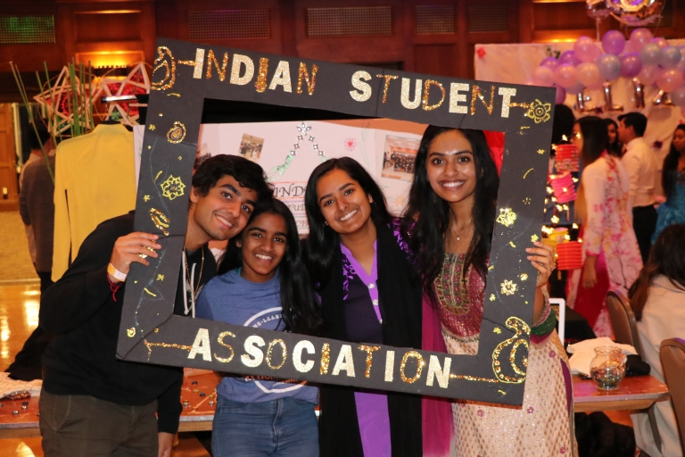 The Indian Student Association at the IU World's Fare