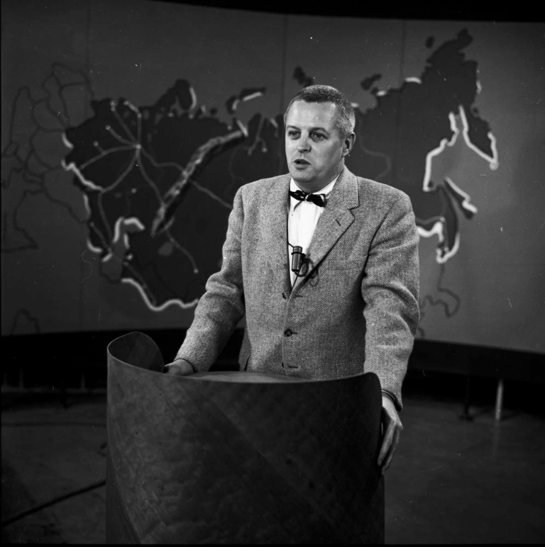 Robert Byrnes on television in 1958