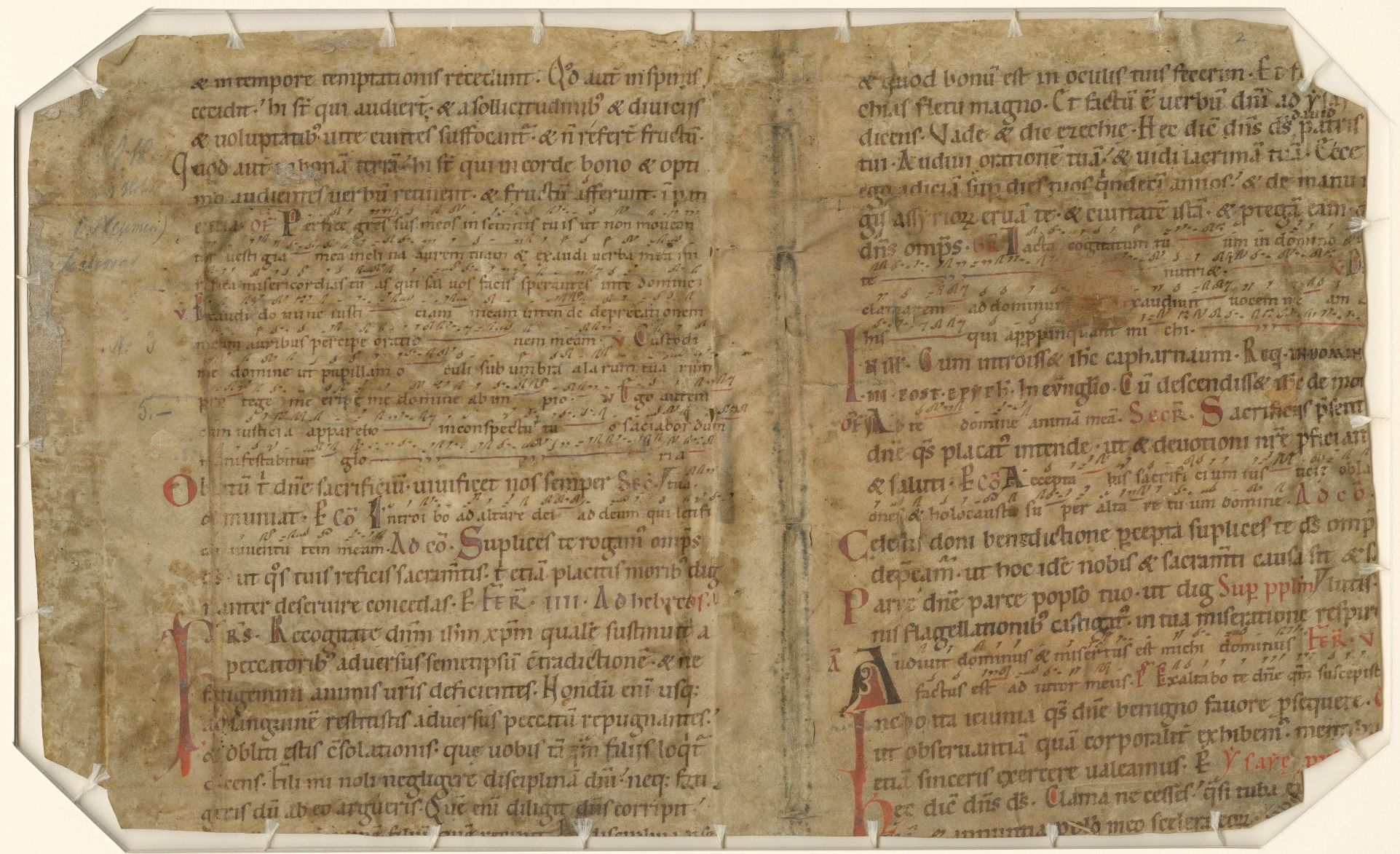 An example of a medieval manuscript in the Lilly Library collection.