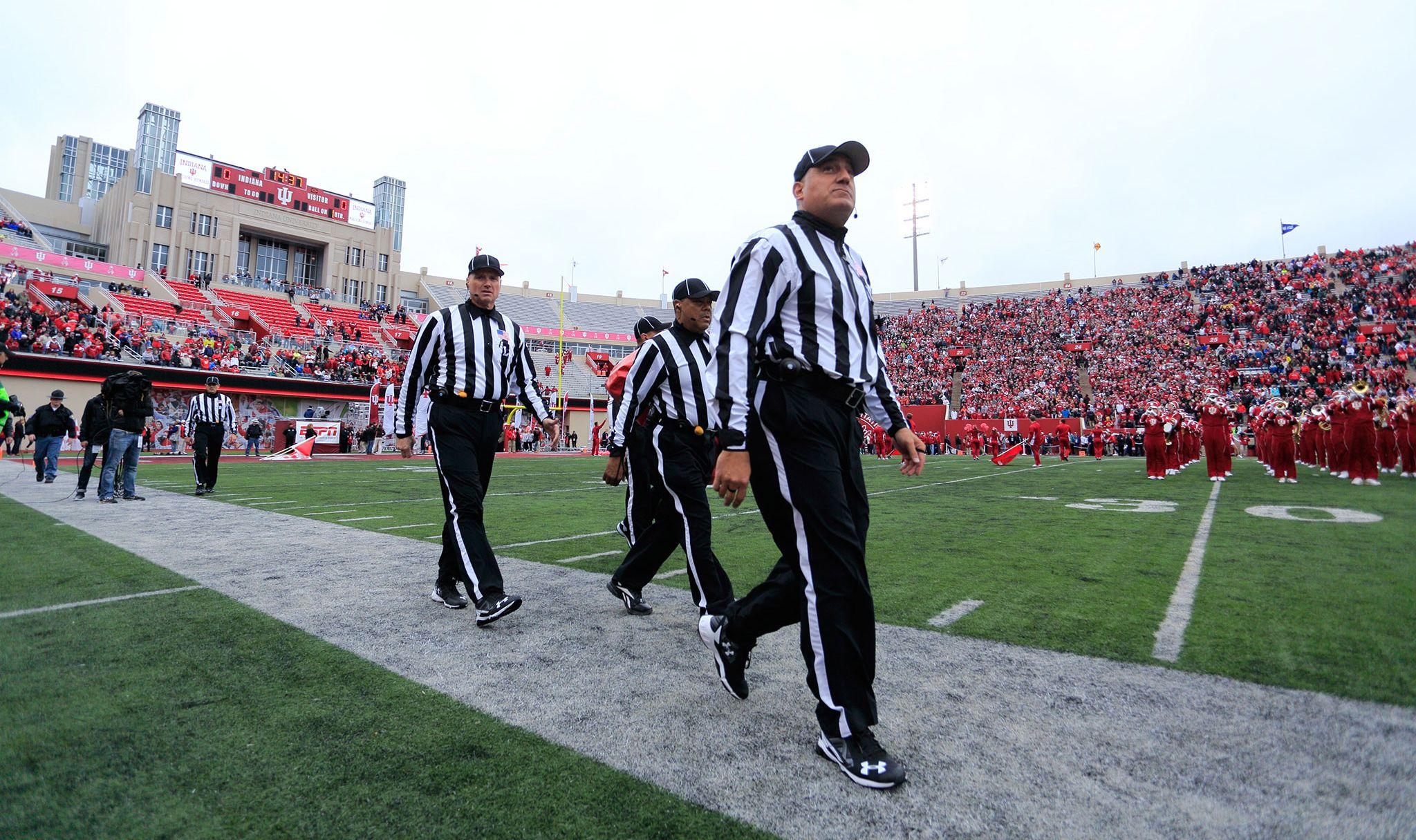 Referee at IU football game