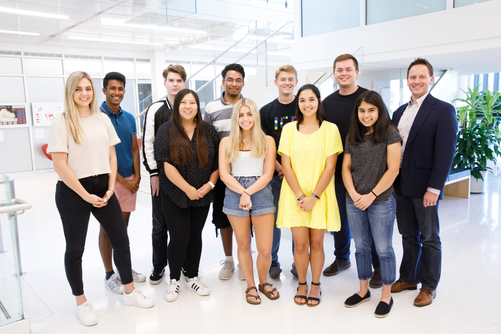 2019-20 Shoemaker Scholars program students and advisor Travis J. Brown