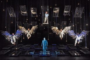 George Bailey with angels in Houston Grand Opera's 2016 premiere.