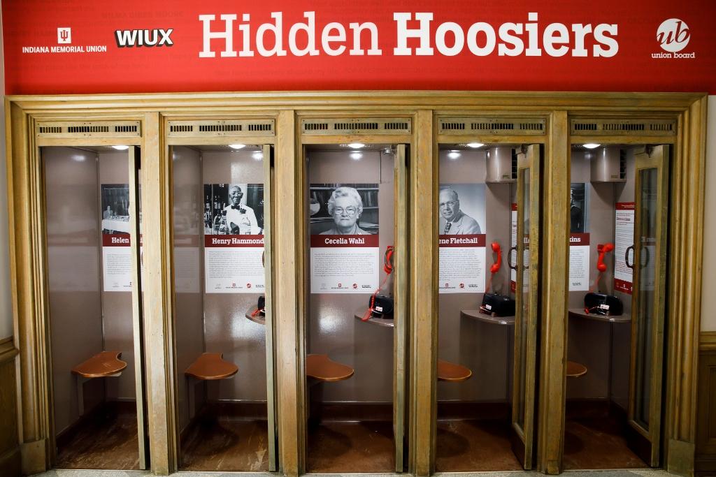 Hidden Hoosiers phone booths in the IMU
