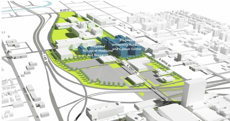 Proposed Health District Development Massing Diagram