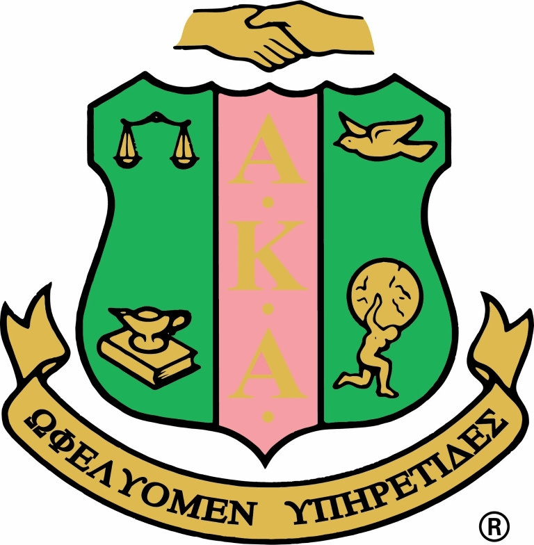 A graphic of the Alpha Kappa Alpha sorority crest