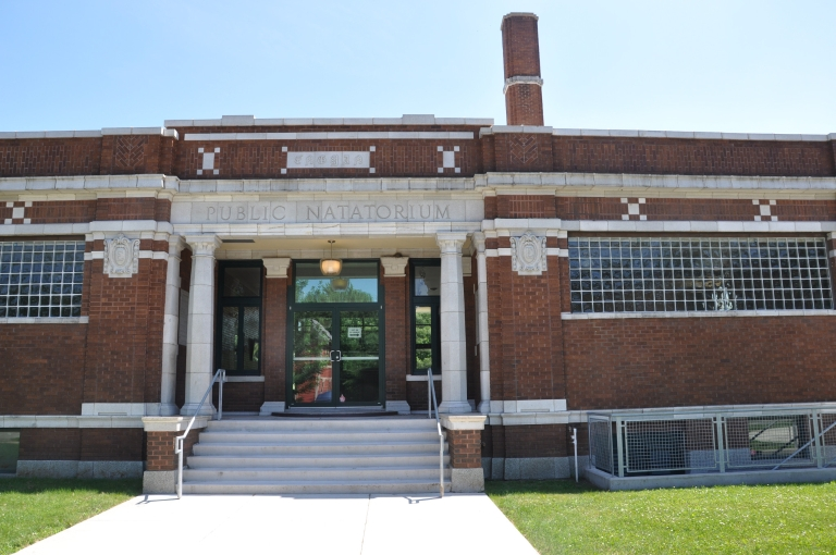 The former Engman Public Natatorium, home of the Civil Rights Heritage Center in South Bend.