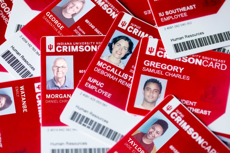 A pils of Indiana University CrimsonCards