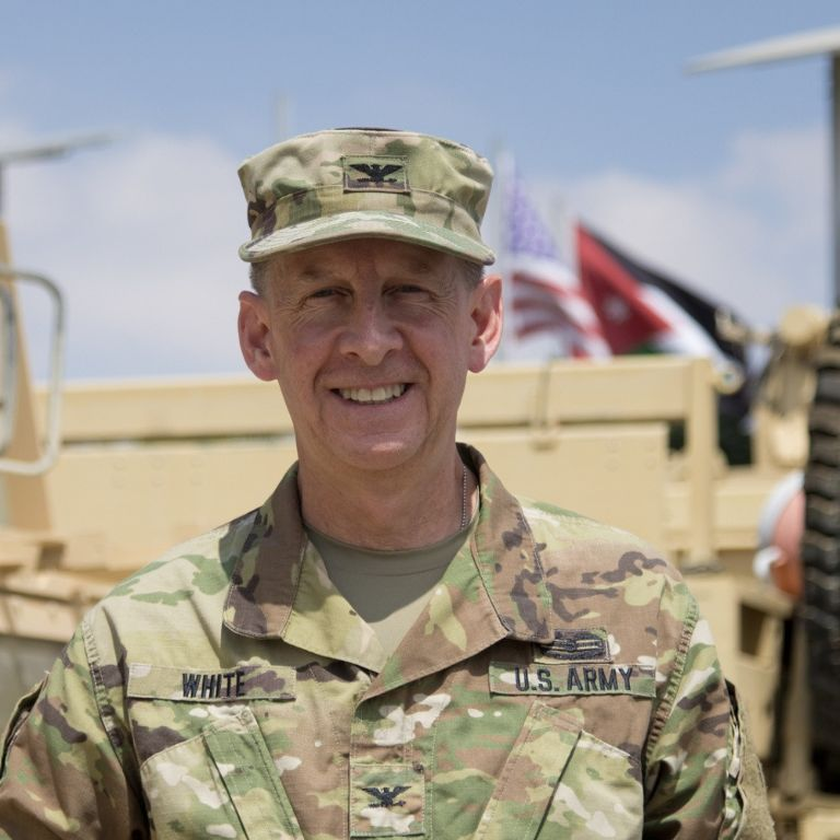 IU's Kirk White is a U.S. Army colonel.