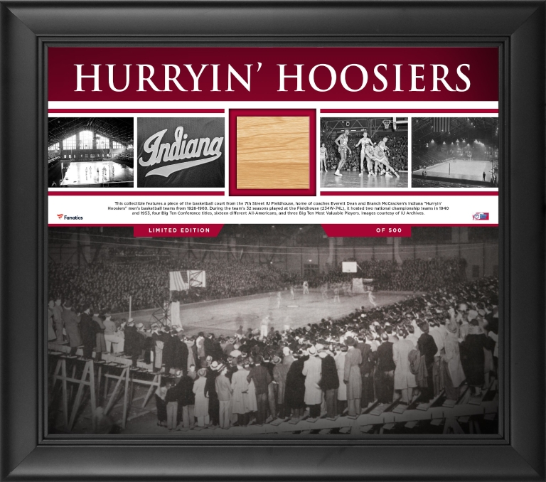 A piece of a historic IU basketball court for sale.