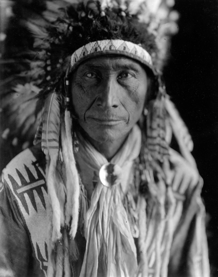 A portrait of an Assiniboine man