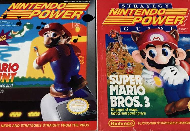 Two images of Nintendo magazine covers