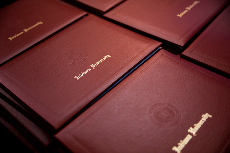 Indiana University diploma covers