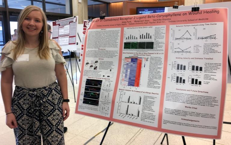 Anna Purk presenting undergraduate research